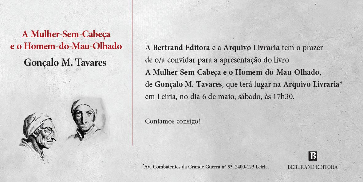 Convite Gonçalo M. Tavares Leiria