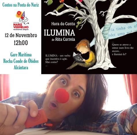 capa evento - ilumina - nariz vermelho