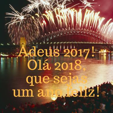 Adeus 2017 Olá 2018