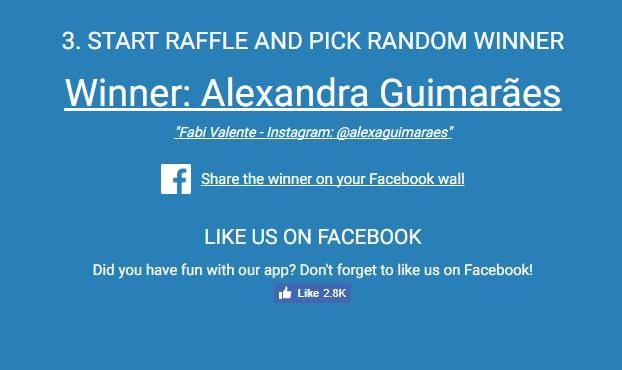 vencedor giveaway winner