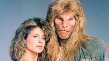 Beauty and the Beast (CBS) 1987-1990 Shown: Ron Perlman, Linda Hamilton